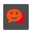Happy Chat Rounded Square Button vector image vector image