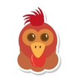 hen animal farm isolated icon vector image