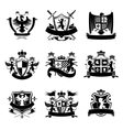 Heraldic emblems black vector image vector image
