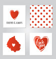inspirational posters set for valentines day vector image vector image