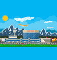 international airport in mountains concept vector image vector image