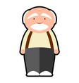 isolated grandfather icon vector image vector image