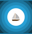 isolated vessel flat icon yacht elemen vector image