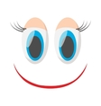 Laughing happy smile icon cartoon style vector image