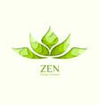lotus symbol paper art concept yoga logo vector image