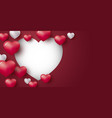 love concept design heart on red background vector image vector image