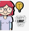 man celebrating holiday of labor day vector image vector image