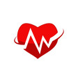 medical heart logo design template vector image