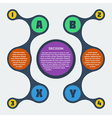 metaball flat infographic 9 vector image vector image