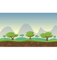 Nature Game Background vector image vector image