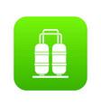 oil refinery plant icon digital green vector image vector image