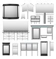 Outdoor Advertisement Set vector image vector image