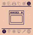 oven linear icon vector image