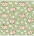 pig in the meadow seamless vector image