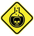 poisonous chemical warning sign vector image vector image