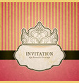 Princess invitation card with crown vector image vector image