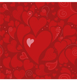 Romantic seamless pattern with hearts vector image vector image