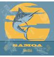 Samoa Swordfish Retro styled image vector image vector image