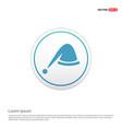 santa hat icon - white circle button vector image vector image