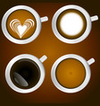 set of coffee vector image vector image