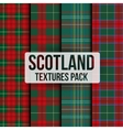 Set of tartan fabric texture pattern seamless vector image