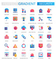 set of trendy flat gradient modern security vector image