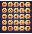 Set round buttons for web video game vector image