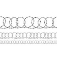 set seamless borders black ravel barbed wire vector image
