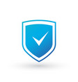 shield with check mark icon in white style vector image vector image
