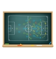 soccer strategy on the blackboard vector image vector image