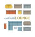 sofas furniture set vector image vector image
