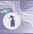 spray icon on purple abstract modern background vector image