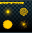 sun burst star icon set summer vector image vector image