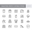 take away food service line icons vector image vector image