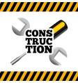 under construction tools icon vector image
