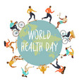 world health day 7th april with the image of vector image