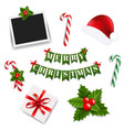 xmas big collection vector image vector image