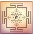 Yantra Goddess Lakshmi vector image vector image