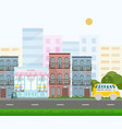 french style bakery street view in a city vector image