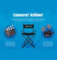 camera action flyer vector image