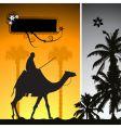 summer holiday camel in desert vector image