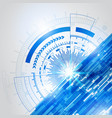 abstract blue technology new future concept vector image vector image