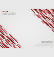 abstract red technology geometric background vector image vector image