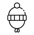 baby headwear icon outline style vector image