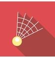 Badminton shuttlecock icon flat style vector image vector image