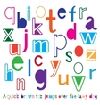 Bright cute alphabet vector image vector image