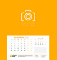 calendar for january 2021 week starts on monday vector image vector image