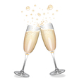 Champagne Flutes Clinking vector image vector image