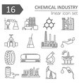 Chemical industry icon set Thin line icon design vector image