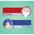 Christmas banners with santa claus and Snow maiden vector image